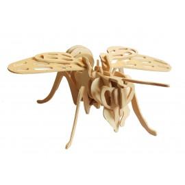 Puzzle 3D din lemn cu albina