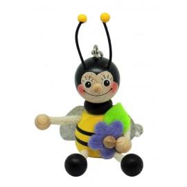 Albina din lemn breloc - baiat