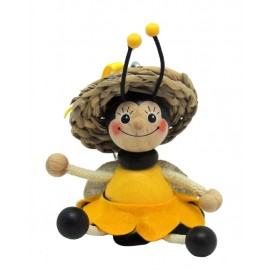Albina din lemn breloc - fata