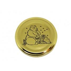 Capac 63mm - Auriu cu ursulet