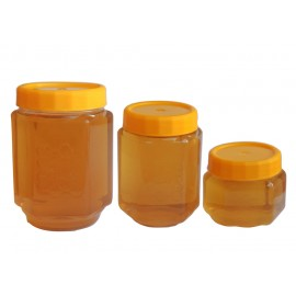 Borcan plastic PP 170ml - hexagonal