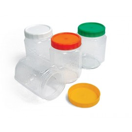 Borcan plastic PP 370ml - hexagonal
