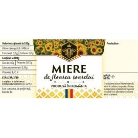 Etichete deptunghiulare - Floarea Soarelui