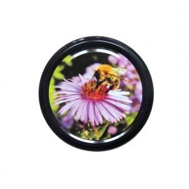 Capac 66mm - Floare mov pe negru