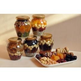 Fructe confiate, alune si seminte in miere, 400g