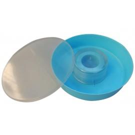 Hranitor rotund 2 litri - albastru
