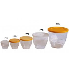Pahar plastic cu capac, 500g