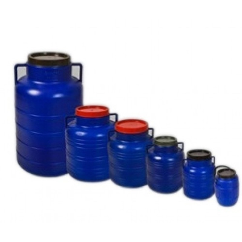 Bidon rotund din plastic - 30 litri