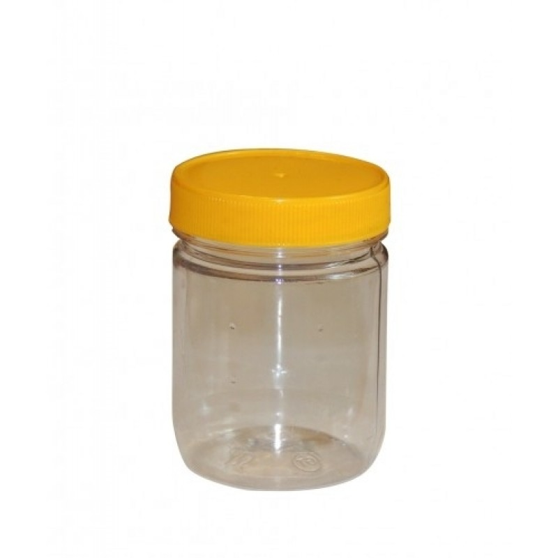 Borcan plastic 200ml - rotund